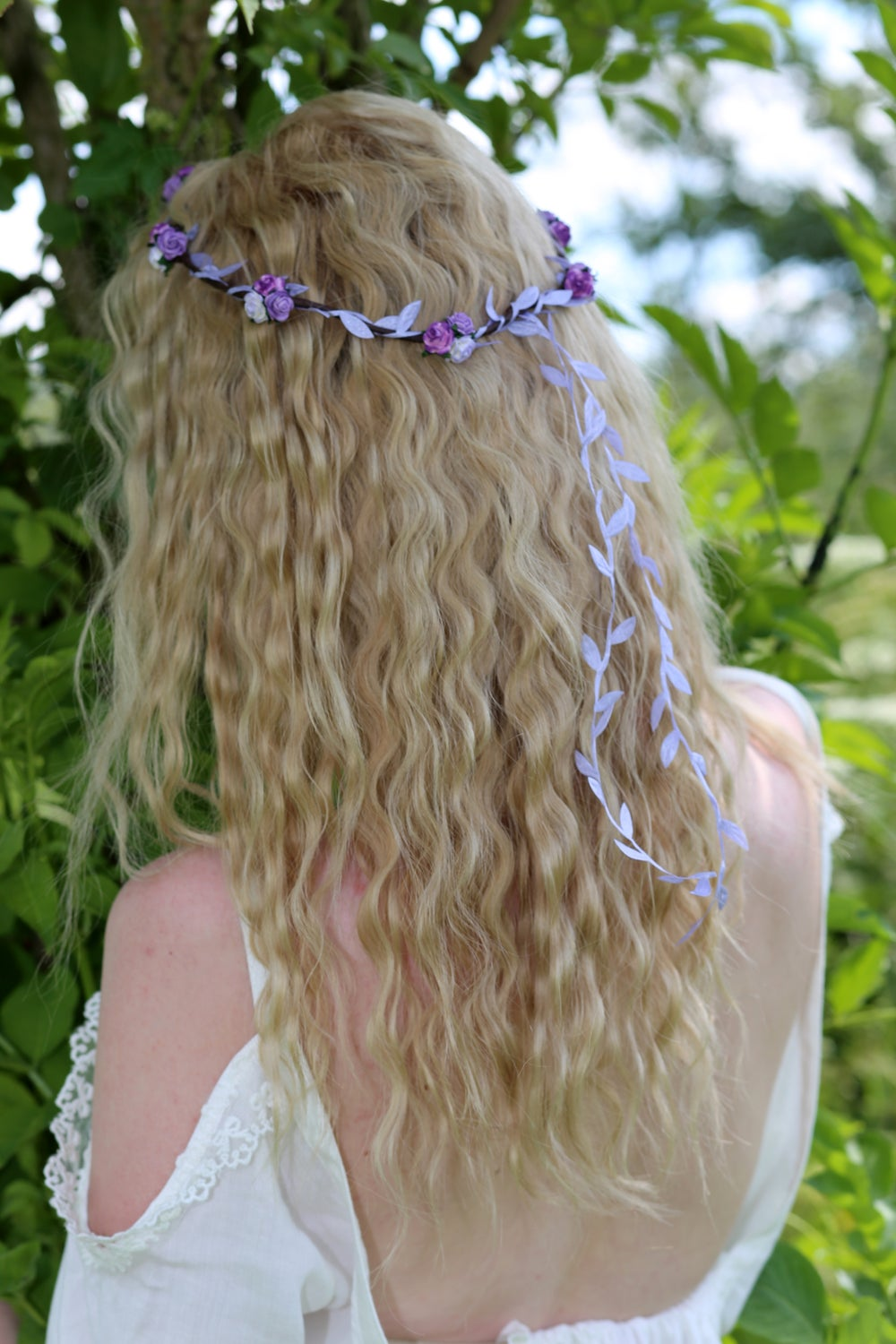 Image of Liberty Rose Garland Purple, Plum and Lilac Ombre