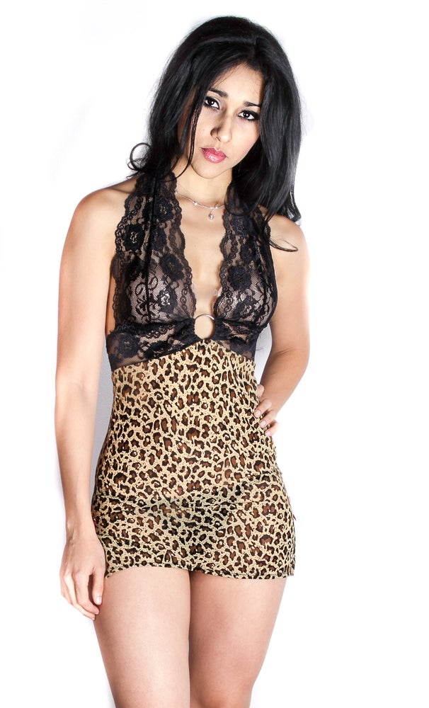 Image of Cheetah Girl  Sexy Chemise
