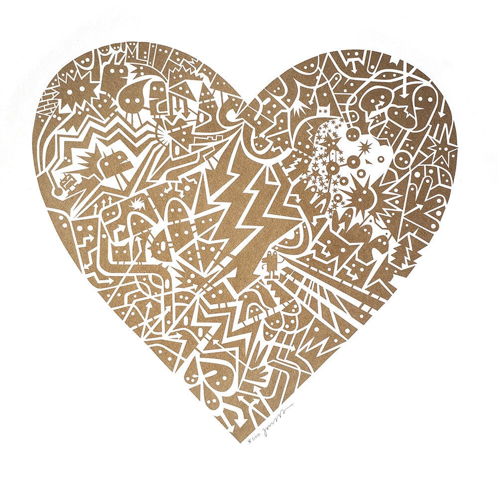Image of Electric gold Heart