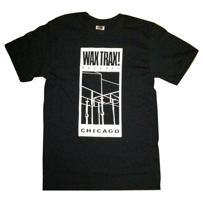 Wax Trax! Records — WAX TRAX! RECORDS T-Shirt/Original Wire Logo (WHITE)