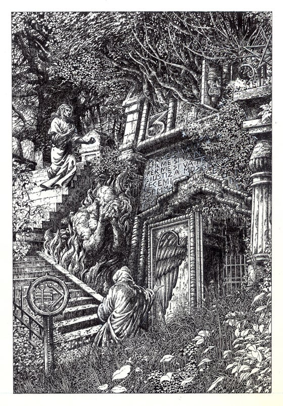 Image of GATES OF HELL  DANTE Original Art