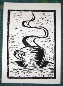 Image of NO LIFE BEFORE COFFEE | LINO-PRINT