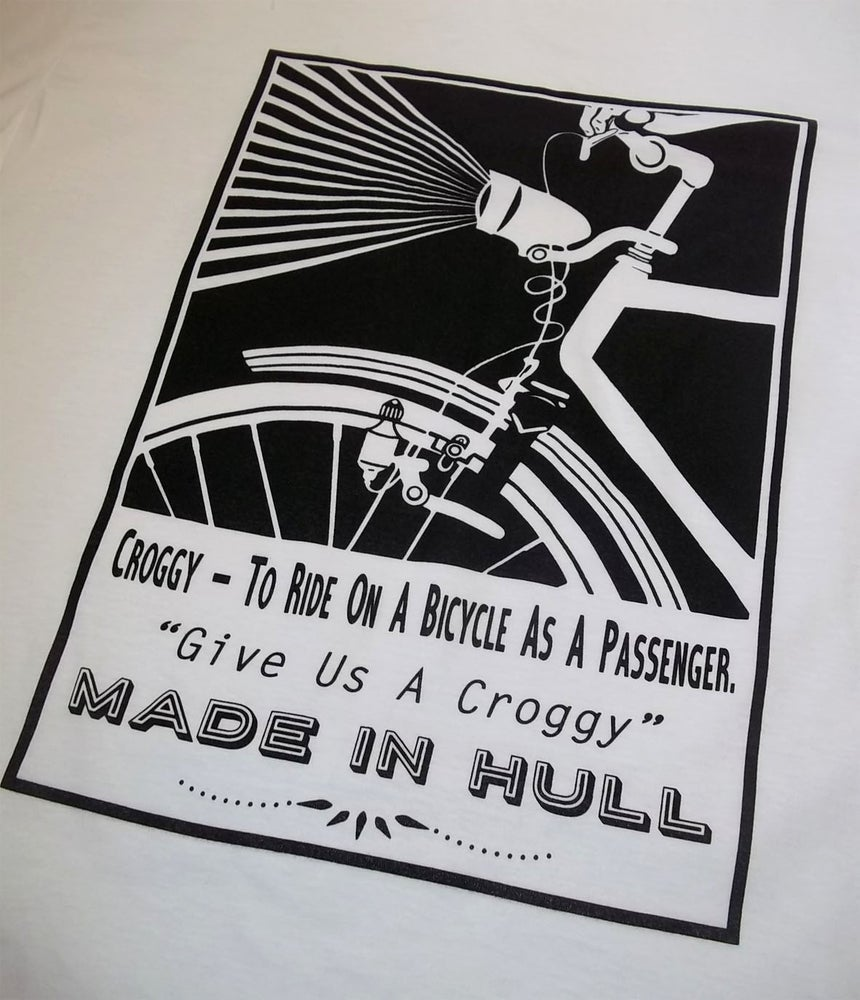 Image of Hull Loves Croggy White Adult T-Shirt