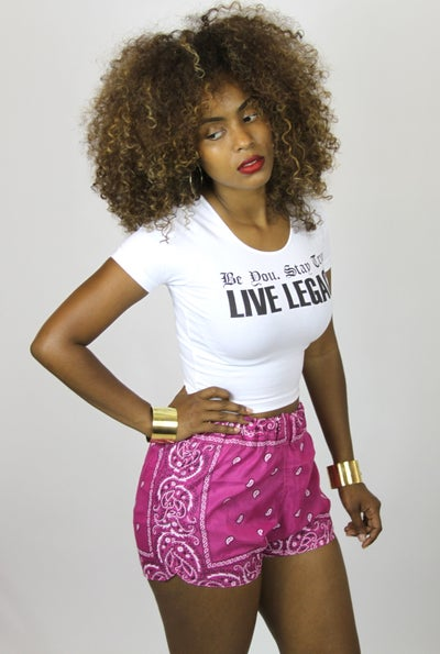 Image of Pink Bandana Track Shorts