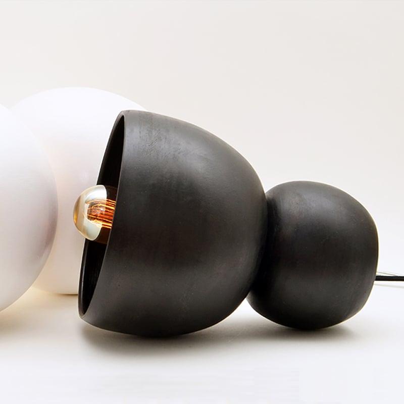Image of black porcelain light