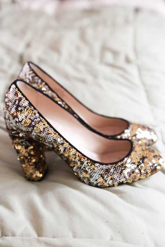 Image of sequin heels