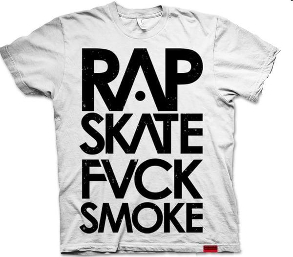 RAP SKATE FUCK SMOKE TSHIRT - HONIRO STORE