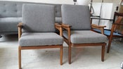 Image of  A pair 1960s danish style arms chairs