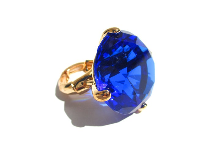 Image of Glam Sapphire Solitaire ring