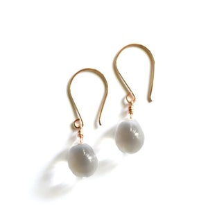 Image of Clear glass drop earrings