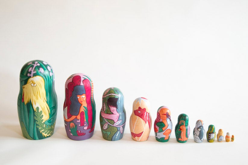 Image of Hand Painted Nesting Dolls