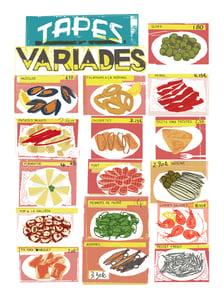 Image of TAPES - TAPAS - SOUVENIR DE BARCELONA POSTER