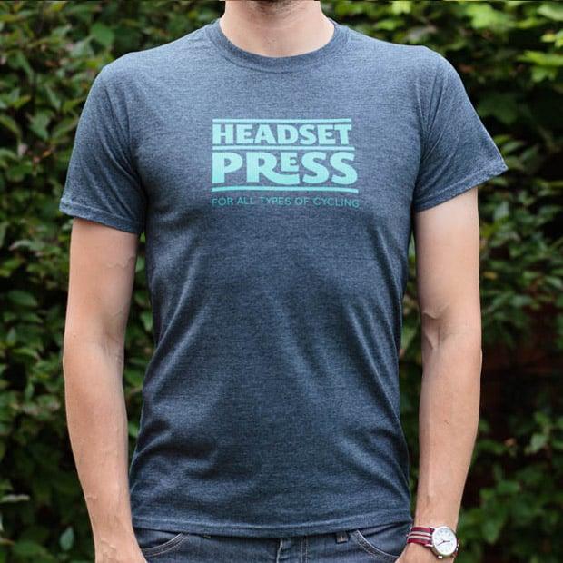 Image of Headset Press Tee Celeste