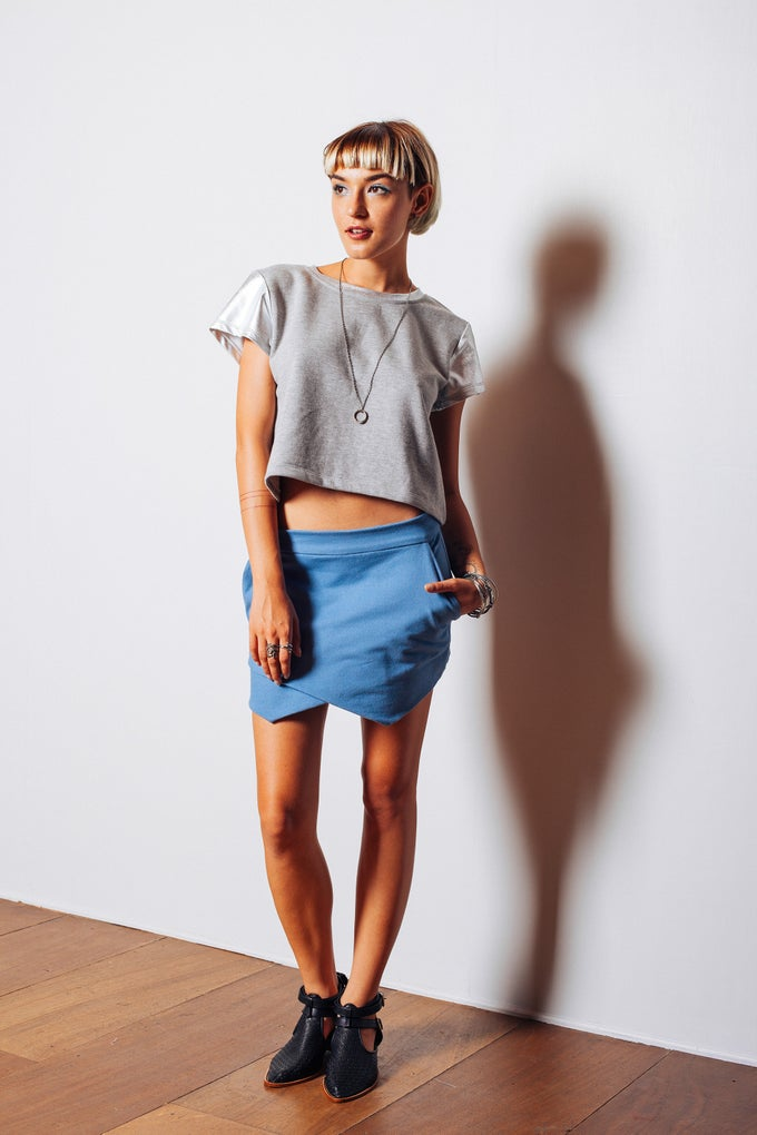 Image of CORALIE SKIRT - DENIM BLUE