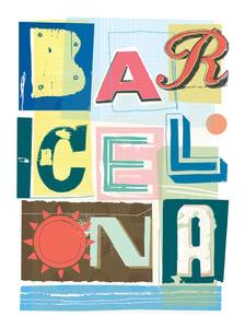 Image of BARCELONA TIPOS CALLEJEROS - BARCELONA STREET TYPE - SOUVENIR DE BARCELONA POSTER