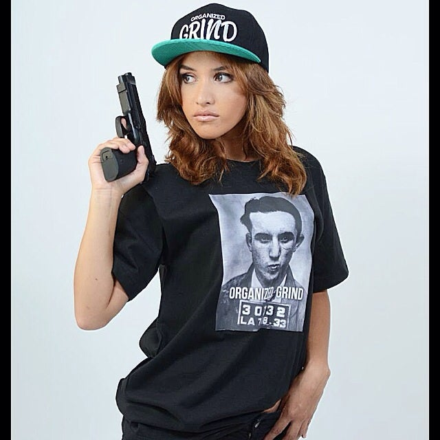 Image of OG Mickey Cohen - Mugg shot shirt (Black)