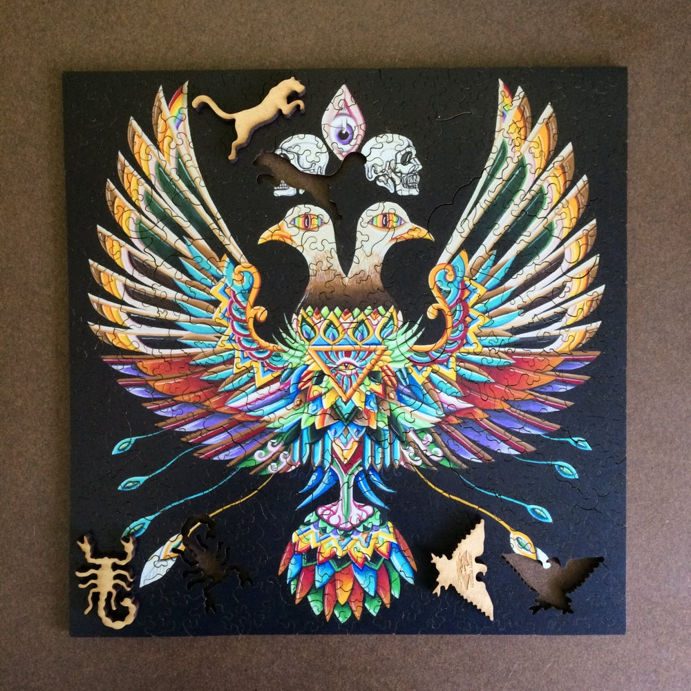 "Image of ""Like a feather falling"" WOODEN PUZZLE"