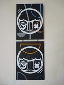 Image of Diptyque, white on Black #1, 2014