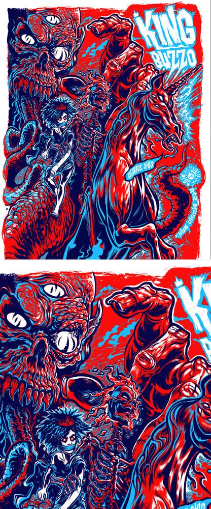 Image of King Buzzo 3 Color Silkscreen Gig Poster
