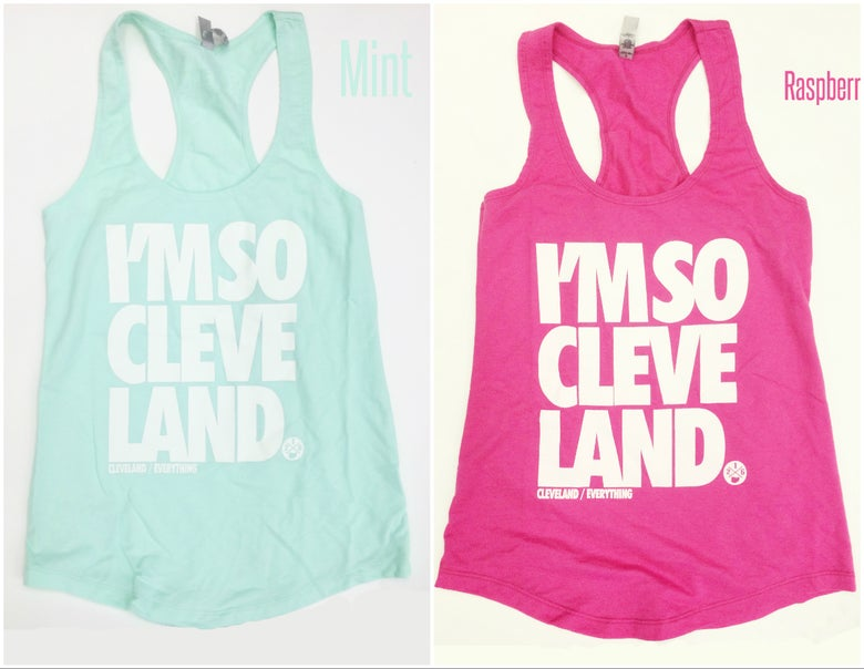 "Image of Ladies' ""I'm So Cleveland"" Glow-In-The-Dark Tank Top"