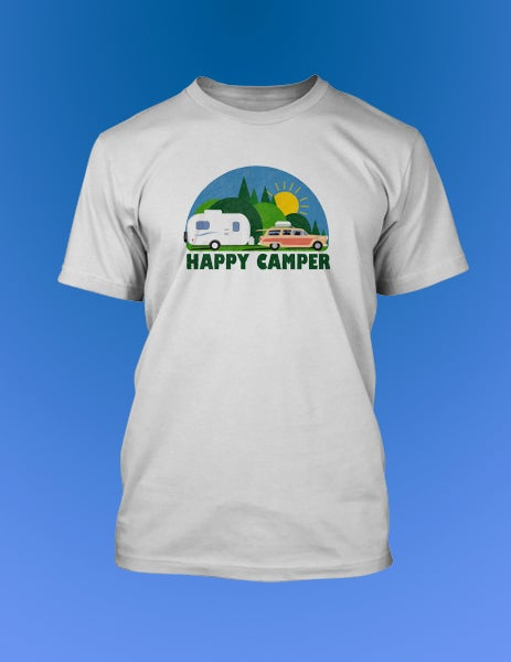 ffe36d15 Happy Camper T-Shirt with Casita Travel Trailer