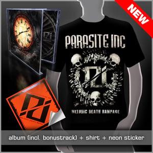 Image of CD + Skull Shirt + Sticker Pack