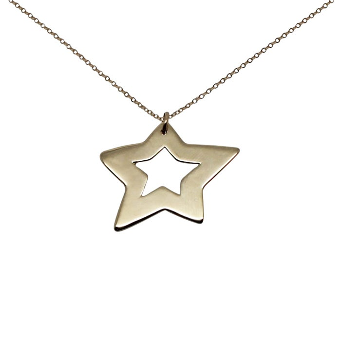 Image of Star 9K Gold Necklace