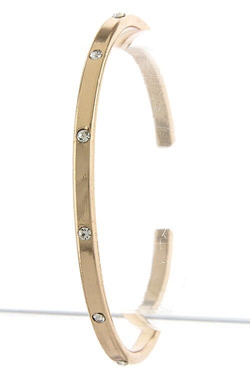 Image of Thin Rhinestone Dotted Bangle