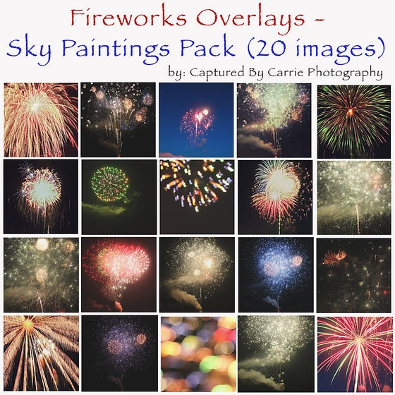 Image of Fireworks Overlays - Sky Paintings Pack