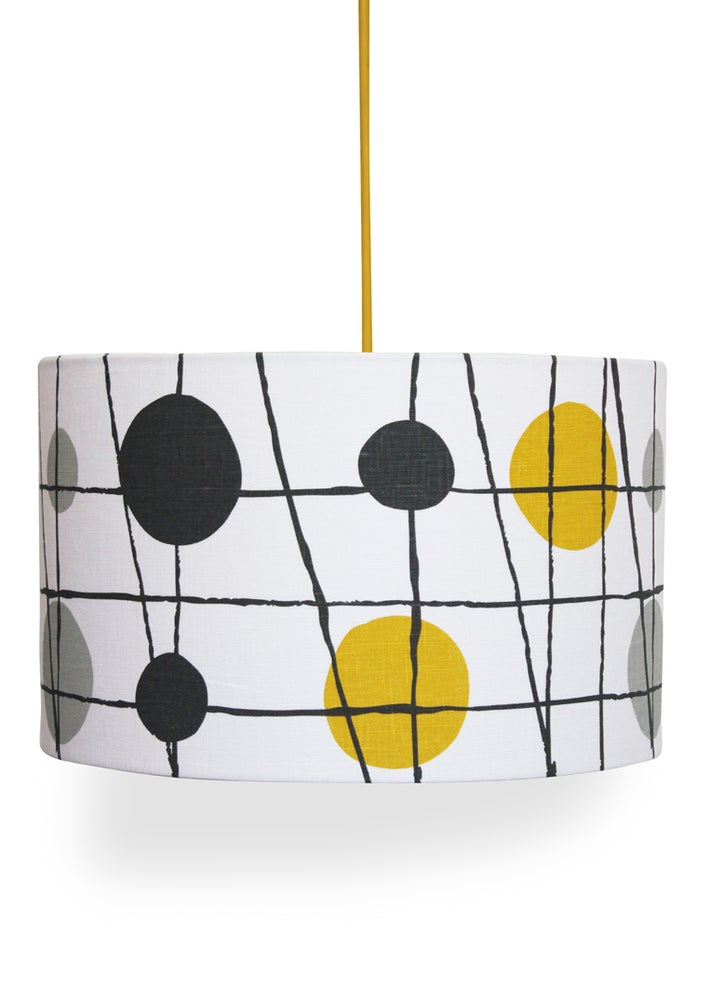 Image of Pavilion Linen Lampshade - Mustard