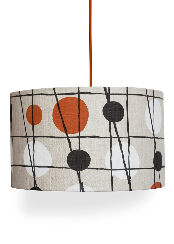 Image of Pavilion Linen Lampshade - Harvest Orange