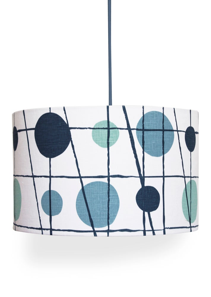 Image of Pavilion Linen Lampshade - Chalkhill Blue