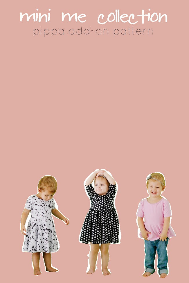 Image of PIPPA DRESS ADD-ON pattern girls 3M to 10