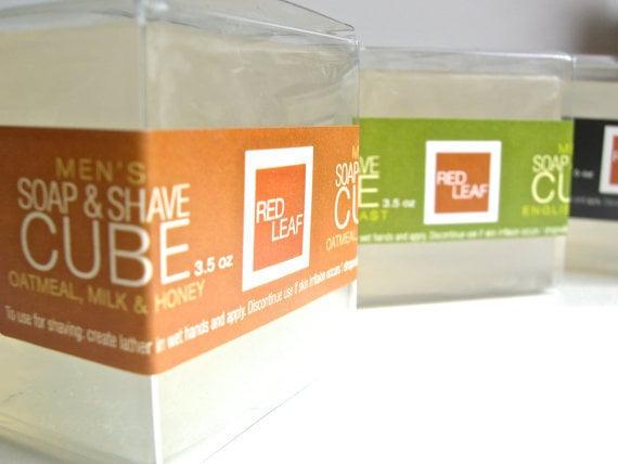Image of Mens Gift Box Set With Shaving Soaps, Body Wash & Shower Sponge