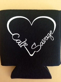 Image of Black I Heart Cali Savage Koozie
