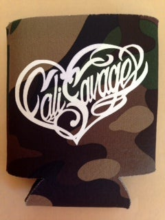 Image of Camo CS Heart Koozie