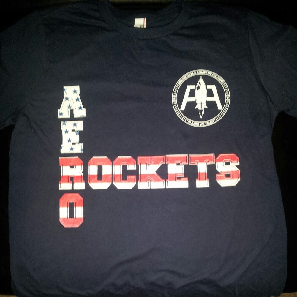 "Image of Navy ""Aero-Rockets"" Tee! USA Colorway"