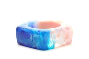 Image of Peach and Turquoise Pentagon Bangle