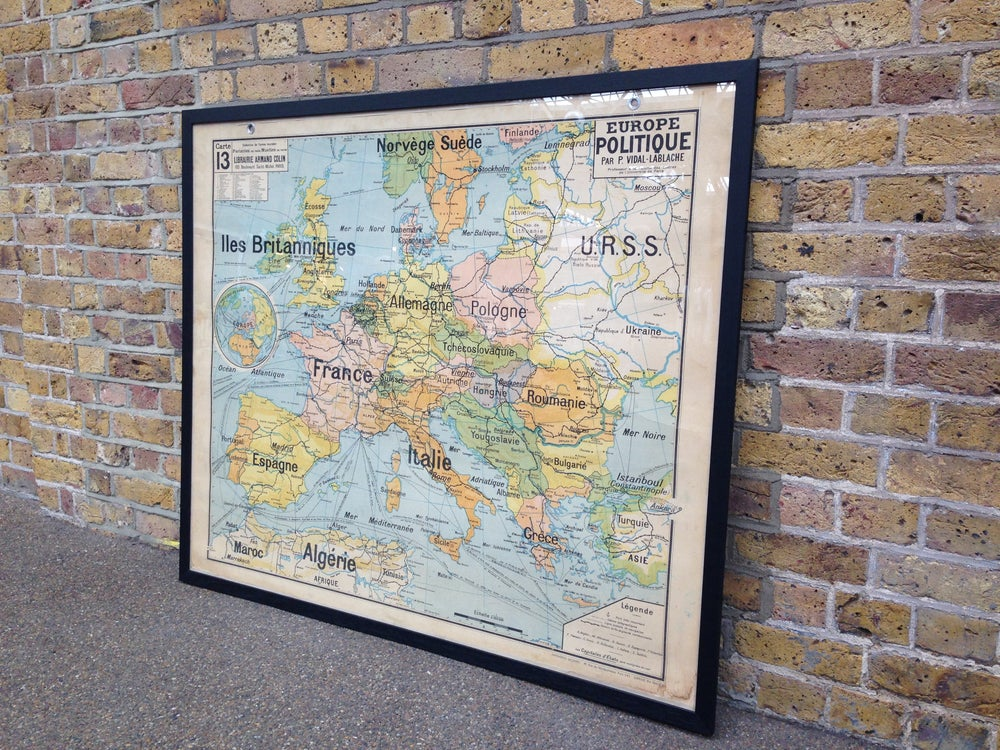 Image of 1960s Map of Europe