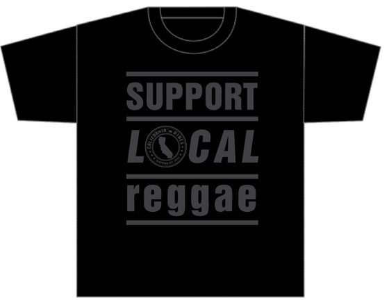 Image of ***RESTOCKED*** SUPPORT LOCAL REGGAE BLACKOUT SHIRT