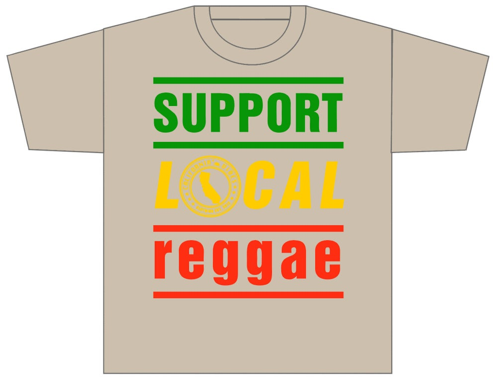 Image of SUPPORT LOCAL REGGAE CLASSIC LIGHT BROWN SHIRT