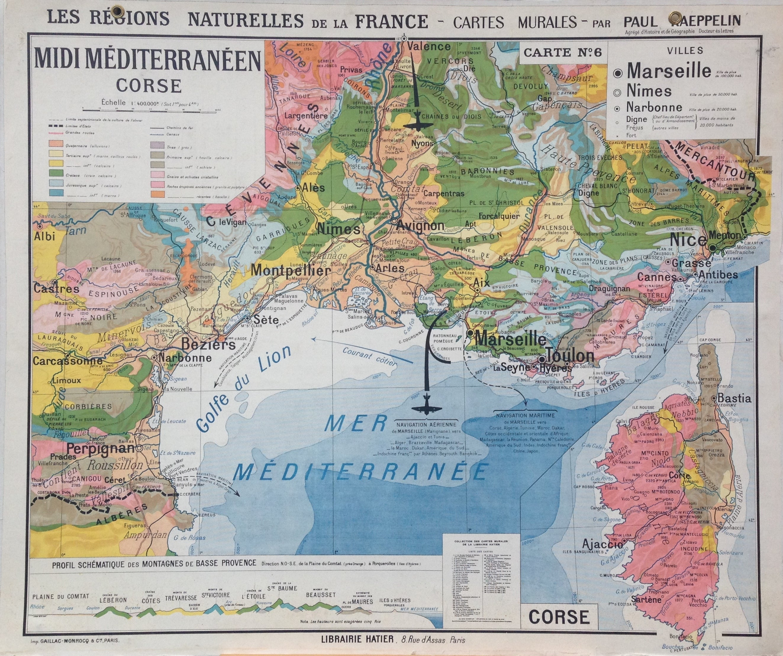 Map Of France Mediterranean Coast.1960s Map Of The Mediterranean Retromaps