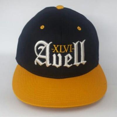 Image of XLVI Avell Black/Yellow Snapback