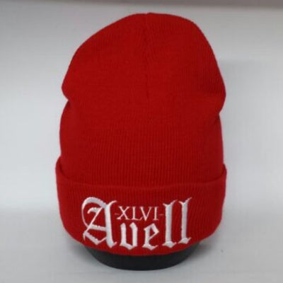 Image of XLVI Avell Red/White Beanie