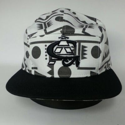 Image of *LIMITED EDITION* CA Tribal Black/White 5 Panel Snapback