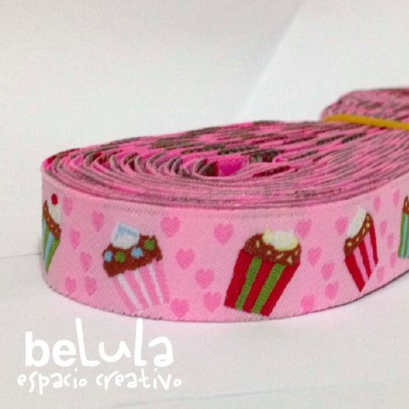Image of Cinta de tela: Pastelitos rosa
