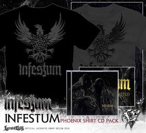 Image of INFESTUM - phoenix Tshirt CD or DIGIPACK package