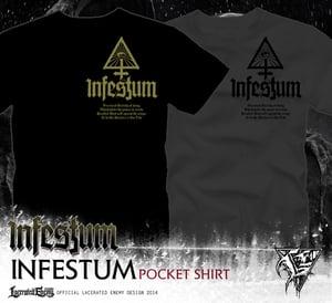 Image of INFESTUM - pocket symbol Tshirt