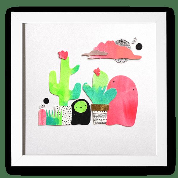 Image of Cactus Bloobs - Original Artwork