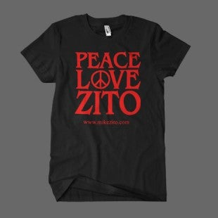 Image of PEACE LOVE ZITO (black) - MENS T-SHIRT